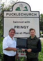 Pucklechurch councillors celebrate the planned arrival of superfast broadband.