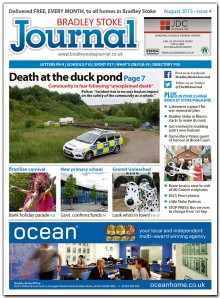 August 2013 edition of the Bradley Stoke Journal magazine.