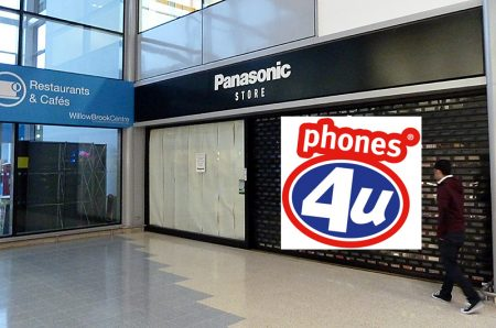 Proposed new Phones4U store at the Willow Brook Centre (montage).