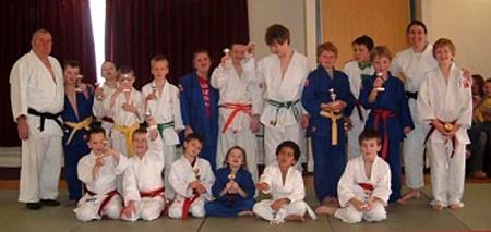 Special needs judo at Bradley Stoke Leisure Centre.