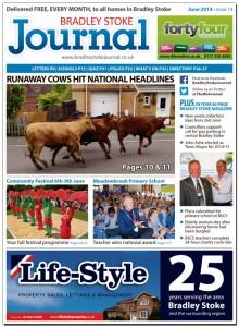 June 2014 edition of the Bradley Stoke Journal magazine.