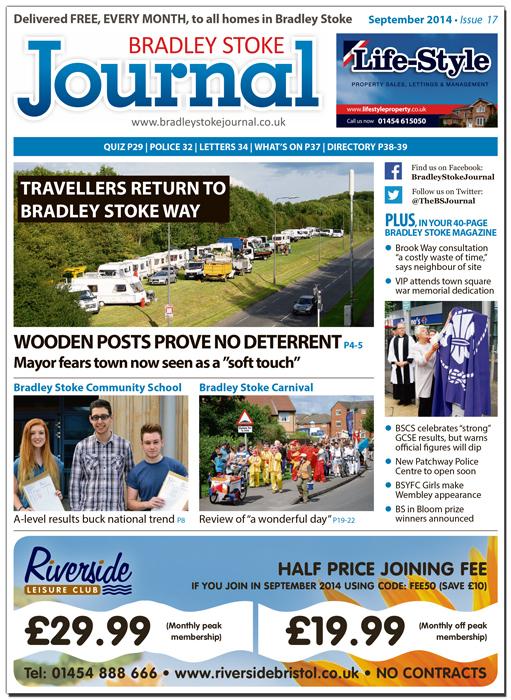 September 2014 edition of the Bradley Stoke Journal magazine.