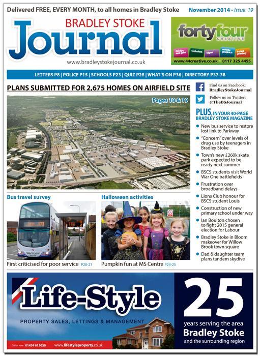 November 2014 edition of the Bradley Stoke Journal magazine.