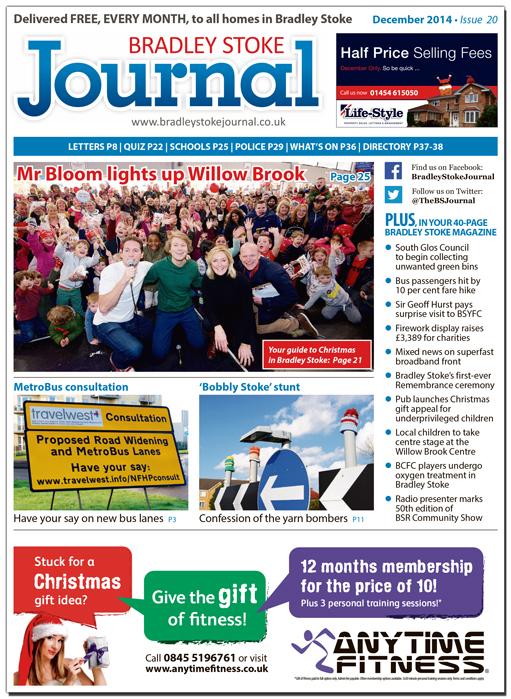 December 2014 edition of the Bradley Stoke Journal magazine.