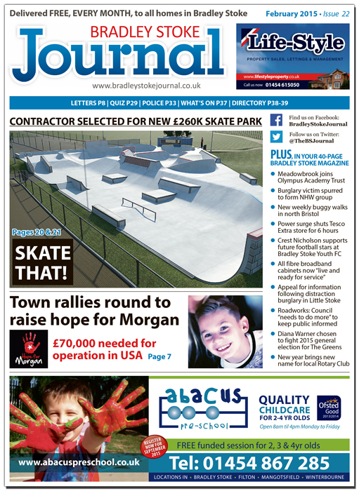 February 2015 edition of the Bradley Stoke Journal magazine.