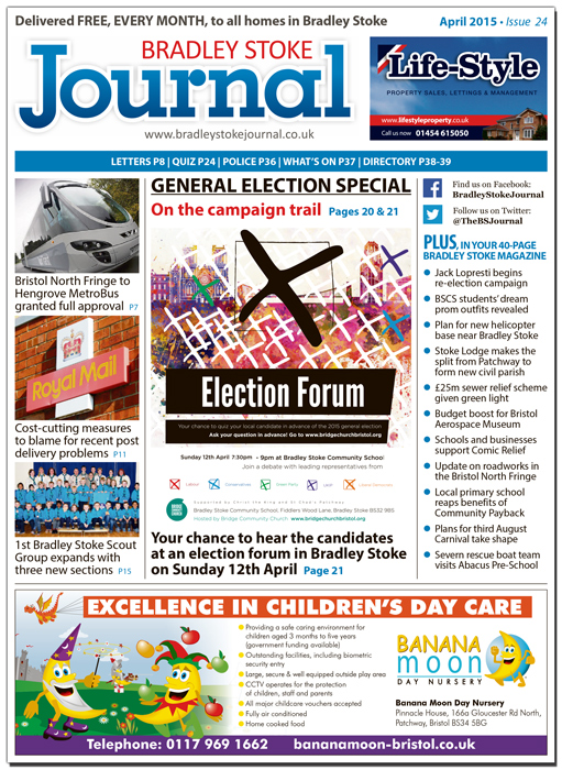 April 2015 edition of the Bradley Stoke Journal magazine.