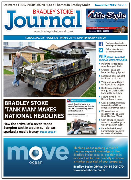 November 2015 edition of the Bradley Stoke Journal news magazine.