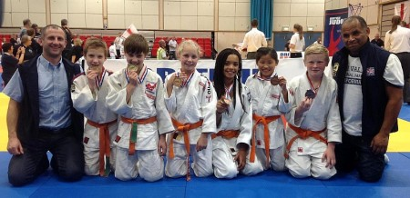 Medal winners from Bradley Stoke Judo Club.