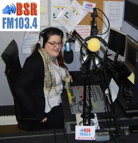 Becky Ward launches Bradley Stoke Radio's FM service.