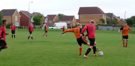 Bradley Stoke Town FC's B Team in action against Broadwalk.