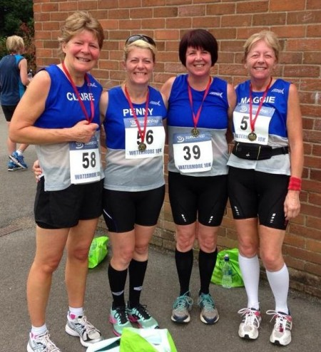 Sole Sisters runners at the Watermore 10k.