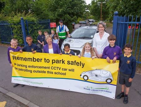 Launch of South Gloucestershire Council's parking enforcement car.