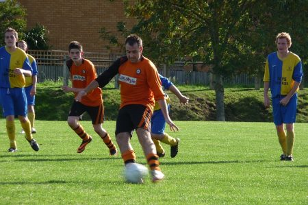 Bradley Stoke Town FC's A Team in Action against Cutters Friday.