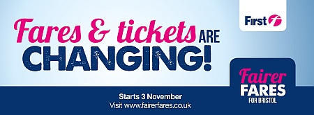 Fairer bus fares for Bristol from 3rd November 2013.