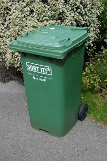 A South Gloucestershire Council green bin.