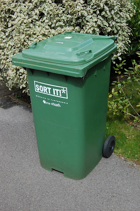 A South Gloucestershire Council green bin.