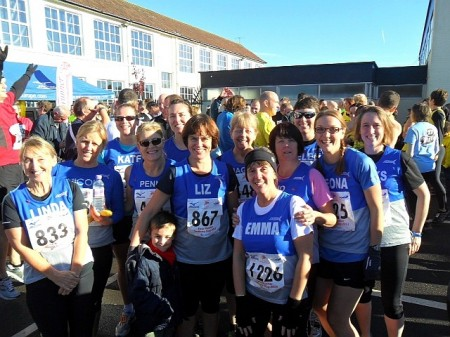 Members of Sole Sisters Running Club pictured before the 2013 Sodbury Slog.