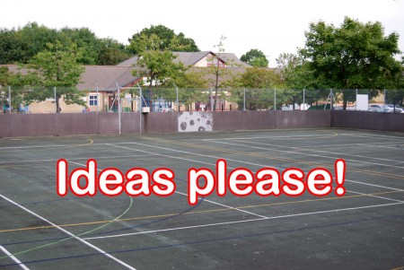 Wanted: Ideas for possible future use of hard court at the Brook Way.