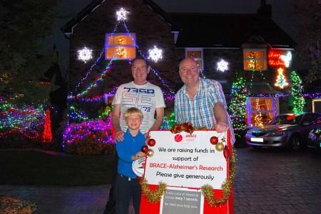 Christmas lights in Watch Elm Close, Bradley Stoke, Bristol.