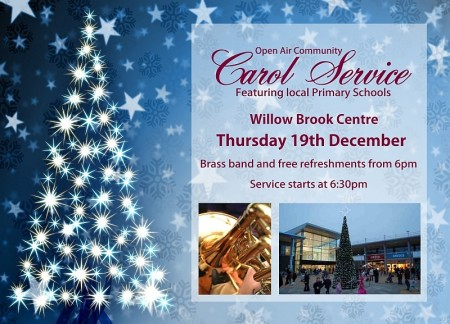 Open air community carol service in Bradley Stoke.