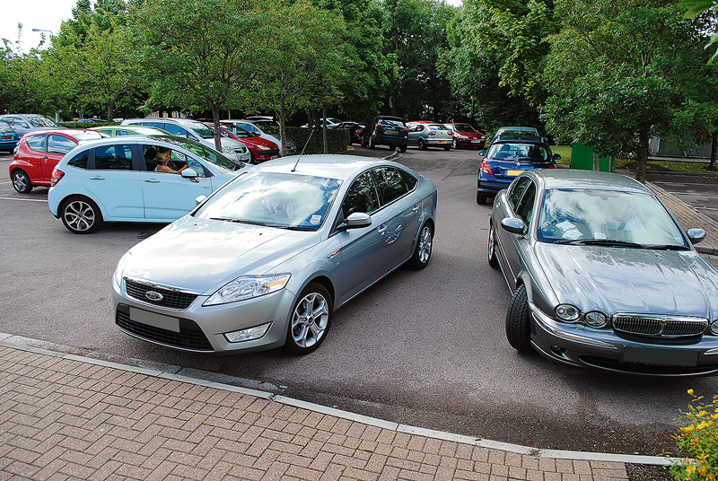 Chaotic car parking at Bradley Stoke Surgery.