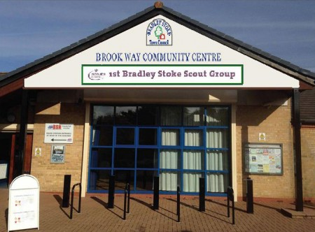 Brook Way Activity Centre signage - Scouts' compromise.