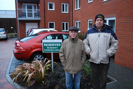 Brook Court residents David Tovey (left) and Roger Grimshaw.