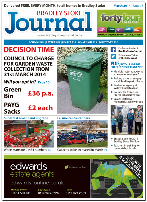 March 2014 edition of the Bradley Stoke Journal magazine.