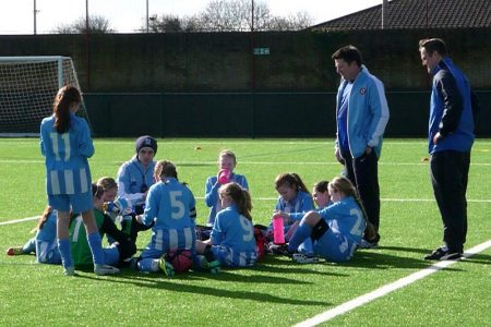 Bradley Stoke Youth FC Under-11 Girls.