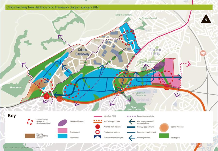 Cribbs/Patchway New Neighbourhood Framework Diagram (Jan 2014).
