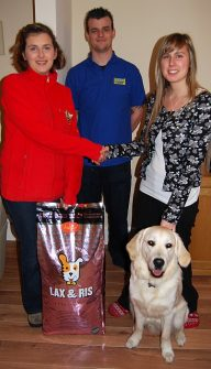 Competition winner Rebecca Oatway (right) with her pet Charlie.