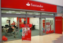 Archive image of mall unit 8 at the Willow Brook Centre trading as a Santander agency in 2011.