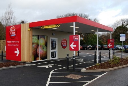 Tesco Click & Collect kiosk in Bradley Stoke.