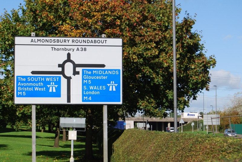 Almondsbury Roundabout on the A38 Gloucester Road.
