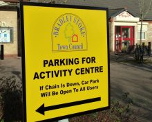 Sign displayed in the car park of the Brook Way Activity Centre.