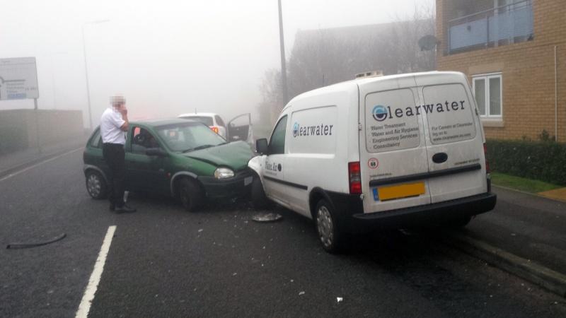 Road traffic collision on Savages Wood Road, Bradley Stoke.