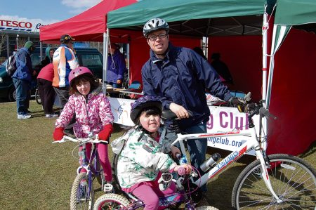 Family fun on the Easter Bunny Bike Ride around Bradley Stoke.