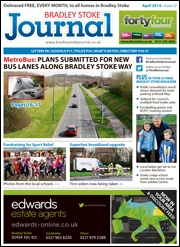 April 2014 edition of the Bradley Stoke Journal magazine.