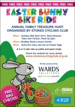 Poster for the Easter Bunny Bike Ride.