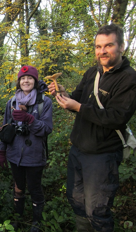 Ecologist Justin Smith on a 'fungus foray' in Bradley Stoke.