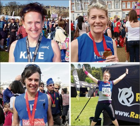 Sole Sisters RC members entered in the 2014 London Marathon.