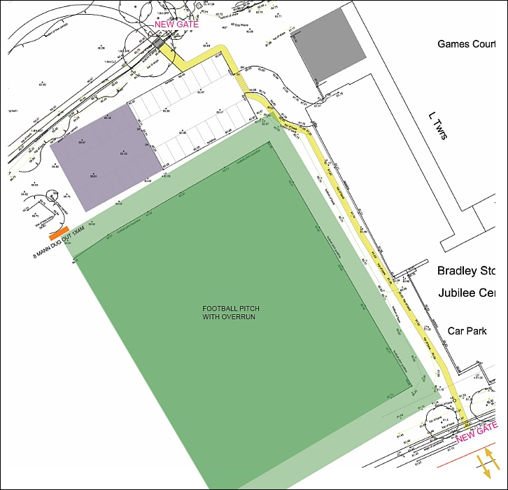 Proposed new access route into Stoke Lodge Primary School from the Jubilee Centre.