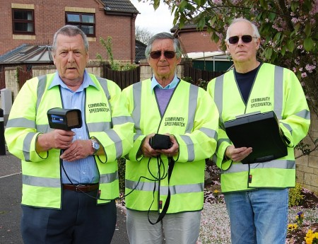 Bradley Stoke Community Speed Watch volunteers.