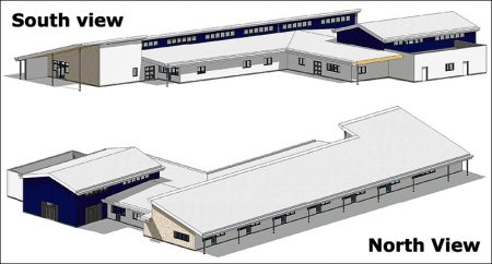 3D views of the proposed new primary age provision building at BSCS.