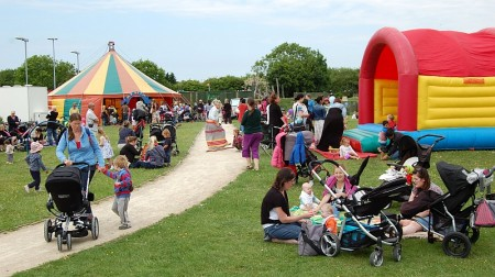 Picnic in the Park at the 2013 Bradley Stoke Community Festival.