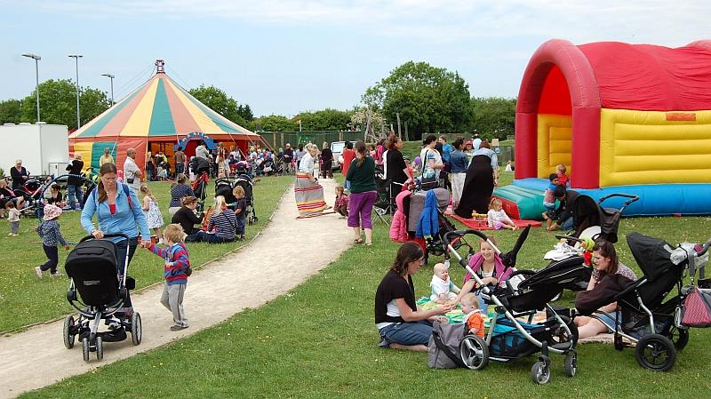 Picnic in the Park at the 2013 Bradley Stoke Community Festival.