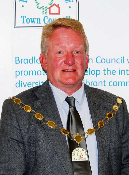 Cllr John Ashe, Mayor of Bradley Stoke 2014/15.