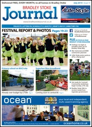July 2014 edition of the Bradley Stoke Journal magazine.