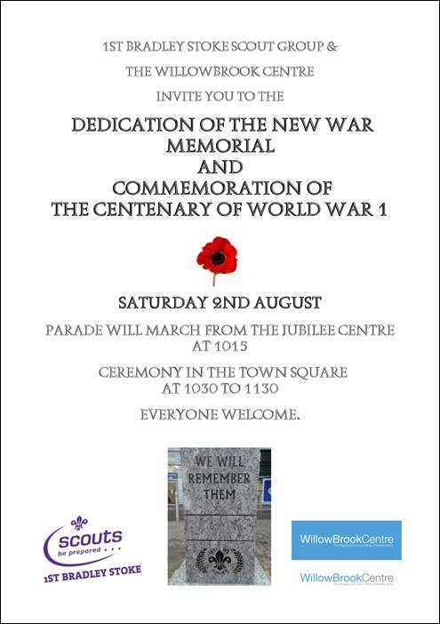 Dedication of the Bradley Stoke war memorial.