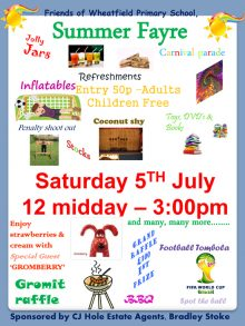 Summer Fayre at Wheatfield Primary School.